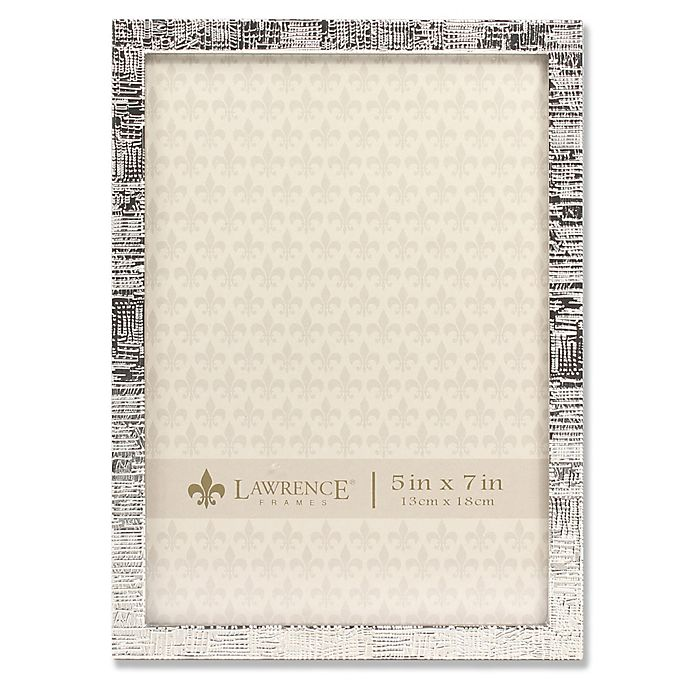 Lawrence Frames Silver Linen 5-Inch x 7-Inch Picture Frame | Bed ...