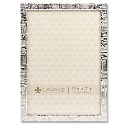 Lawrence Frames Silver Linen 5-Inch x 7-Inch Picture Frame