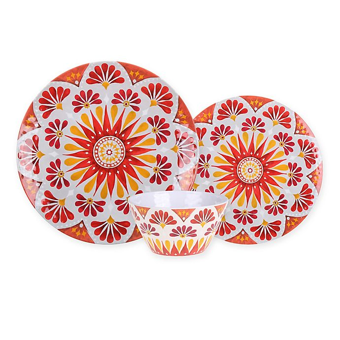 Alternate image 1 for Gypsy Grapefruit Melamine Textured Dinnerware