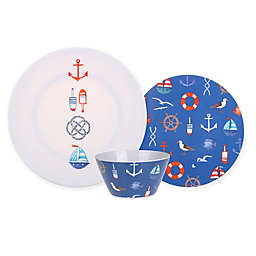 Seaside Life Icons Melamine Dinnerware