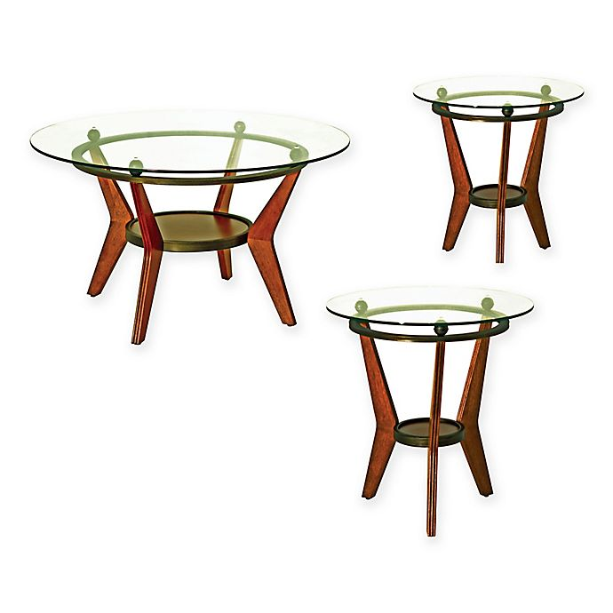 Alternate image 1 for Steve Silver Co. Saxony 3-Piece Table Set in Brown