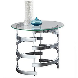 Tayside End Table in Chrome