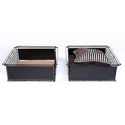 Fashion Bed Metal Slide-Out Drawer for Atlas Bed Base in Black (Set of 2)