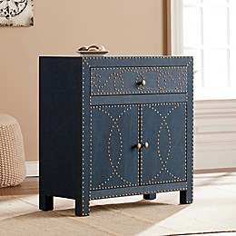Southern Enterprises Florian Double Door Cabinet in Navy