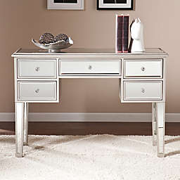 Southern Enterprises Mirage Mirrored Console in Matte Silver