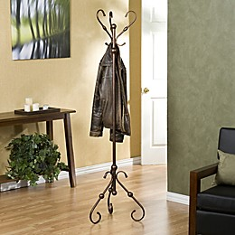 Southern Enterprises Lourdes Standing Coat Rack in Bronze
