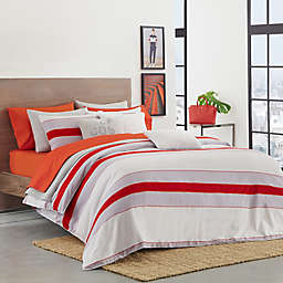 Lacoste Sirocco Full/Queen Comforter Set in Red