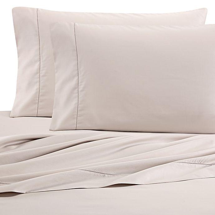 Alternate image 1 for Wamsutta® PimaCott 525-Thread-Count Wrinkle Resistant California King Fitted Sheet in Khaki