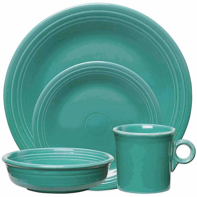 Alternate image 1 for Fiesta® Dinnerware Collection in Turquoise