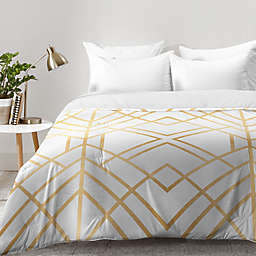 Deny Designs Elisabeth Fredriksson Golden Geo Comforter in Gold