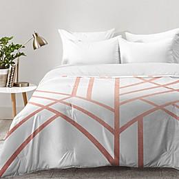 Deny Designs Elisabeth Fredriksson Art Deco Comforter in Rose Gold