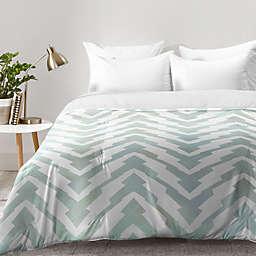 Deny Desings Georgiana Paraschiv Pastel Zigzag Comforter in Green