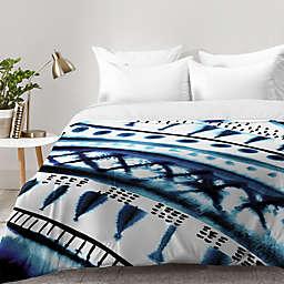 Deny Designs Amy Sia Indigo Stripe Comforter in Blue