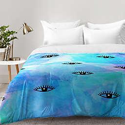 Deny Designs Hello Sayang Eye Blush Comforter in Blue