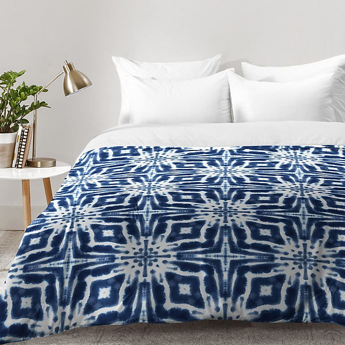 Alternate image 1 for Deny Designs Jaqueline Maldonado Shibori Watercolor Comforter in Indigo