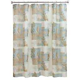 Bacova Coastal Moonlight Shower Curtain in Blue/Tan