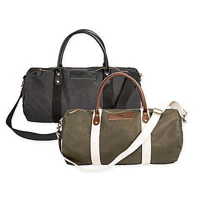 Cathy's Concepts Canvas and Leather Duffle Bag