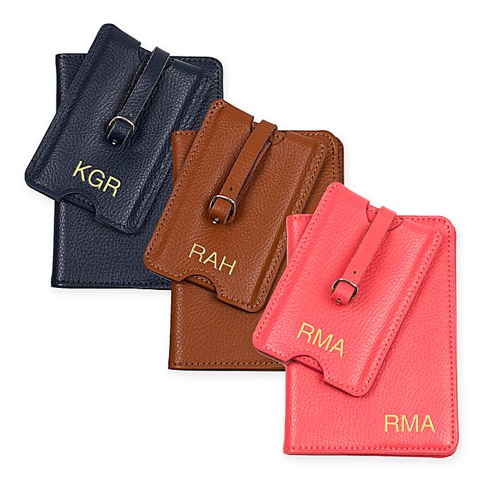 12ae6e71db1 Cathy s Concepts Leather Passport Holder   Luggage Tag