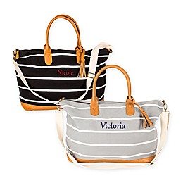 Cathy's Concepts Striped Canvas Weekender Tote