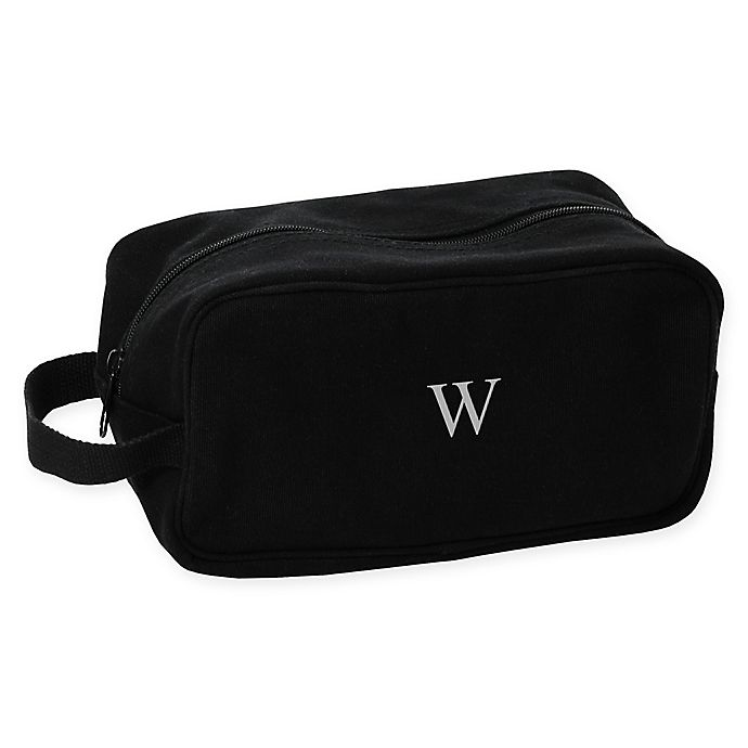 Alternate image 1 for Cathy's Concepts Men's Canvas Toiletry Bag in Black