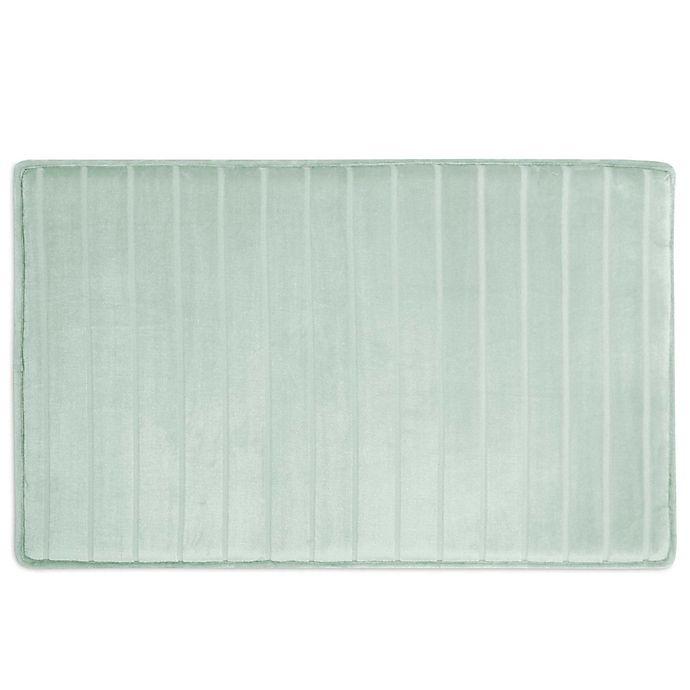 Alternate image 1 for Micro Plush Memory Foam Bath Mat