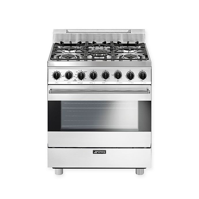Alternate image 1 for Smeg Pro-Style 30-Inch Free-Standing Gas Range in White