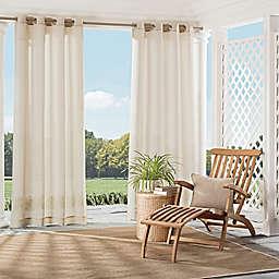 Parasol Summerland Key Grommet Top Sheer Indoor/Outdoor Window Curtain Panel