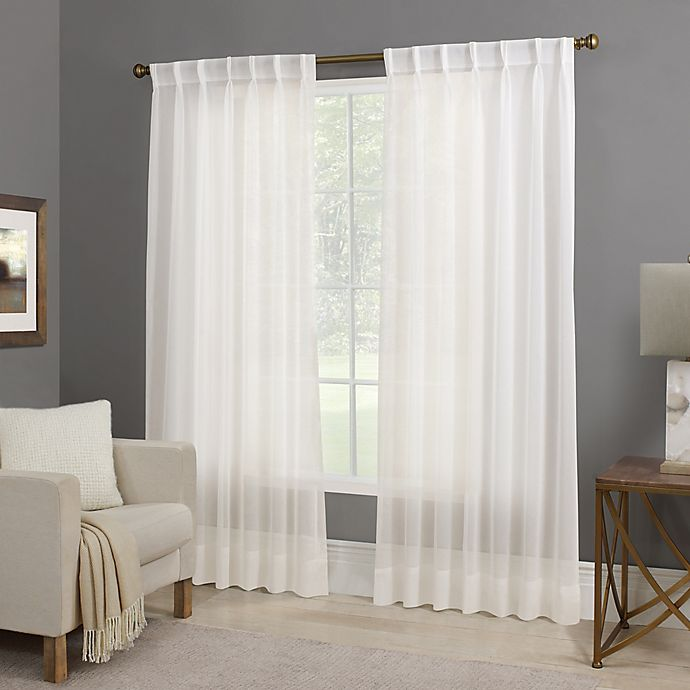Bed Bath And Beyond Canada: Willow Sheer Back Tab Window Curtain Panel In White