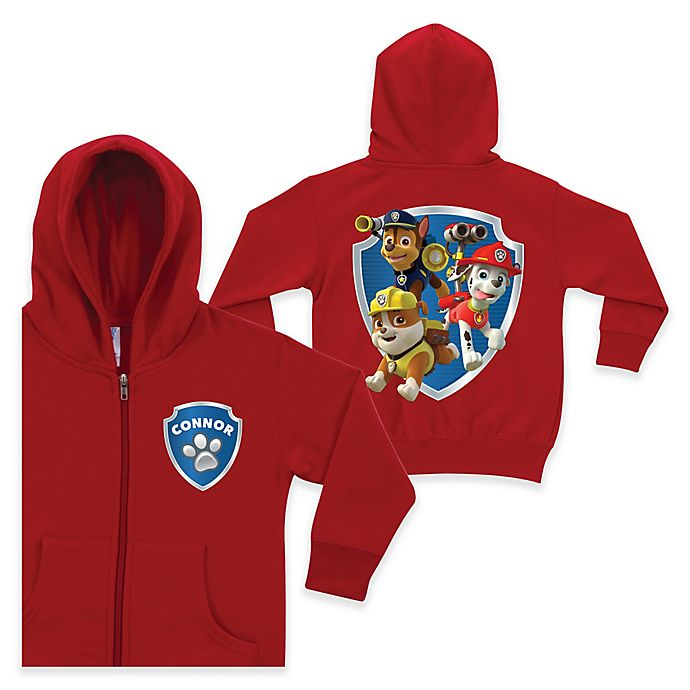 Alternate image 1 for Nickelodeon™ PAW Patrol To the Rescue Zip Hoodie in Red