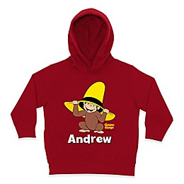 Curious George Peek-a-Boo Zip Hoodie in Red