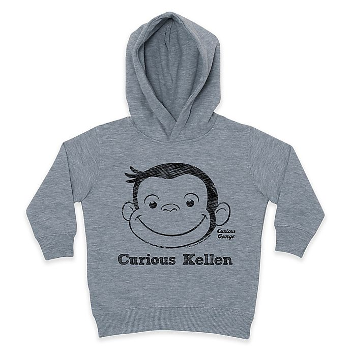 Alternate image 1 for Curious George Curious Kid Pullover Hoodie in Grey/Black