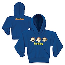 Curious George Silly Faces Pullover Hoodie in Blue