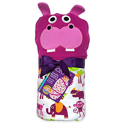 Sozo® Jungle Swaddle Blanket and Cap Set in Pink