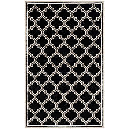 Safavieh Amherst Belle 4-Foot x 6-Foot Indoor/Outdoor Area Rug in Anthracite/Ivory