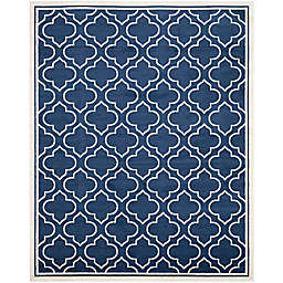 Safavieh Amherst Belle 10-Foot x 14-Foot Indoor/Outdoor Area Rug in Navy/Ivory