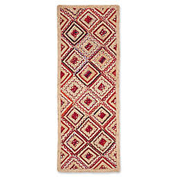 Safavieh Cape Cod Diamond Tiles 2-Foot 3-Inch x 8-Foot Runner in Red