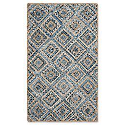 Safavieh Cape Cod Diamond Tiles 3-Foot x 5-Foot Area Rug in Blue