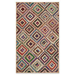 Safavieh Cape Cod Diamond Tiles 5-Foot x 8-Foot Area Rug in Red