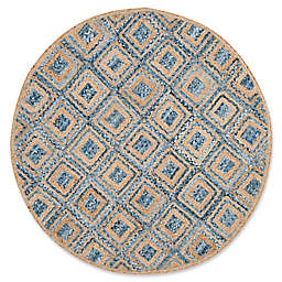 Safavieh Cape Cod Diamond Tiles 6-Foot Round Area Rug in Blue