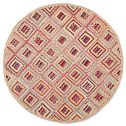 Safavieh Cape Cod Diamond Tiles 6-Foot Round Area Rug in Red