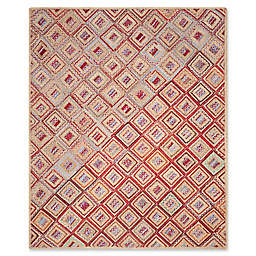Safavieh Cape Cod Diamond Tiles 8-Foot x 10-Foot Area Rug in Red