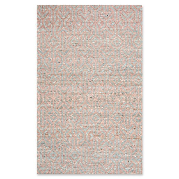 Alternate image 1 for Safavieh Cape Cod Geometric Area Rug in Blue/Rust