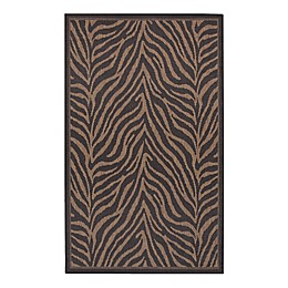 Courtisan Recife Zebra Rug in Black/Cocoa