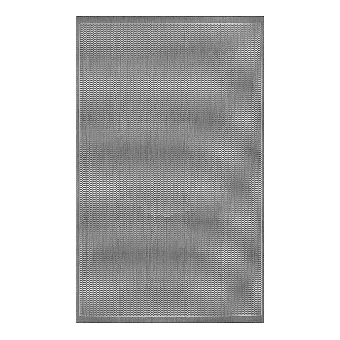 Alternate image 1 for Couristan® Recife Saddlestitch 7-Foot 6-Inch x 10-Foot 9-Inch Area Rug in Grey/White