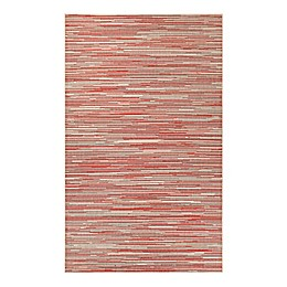 Couristan® Monaco Alassio Indoor/Outdoor Rug in Sand/Maroon