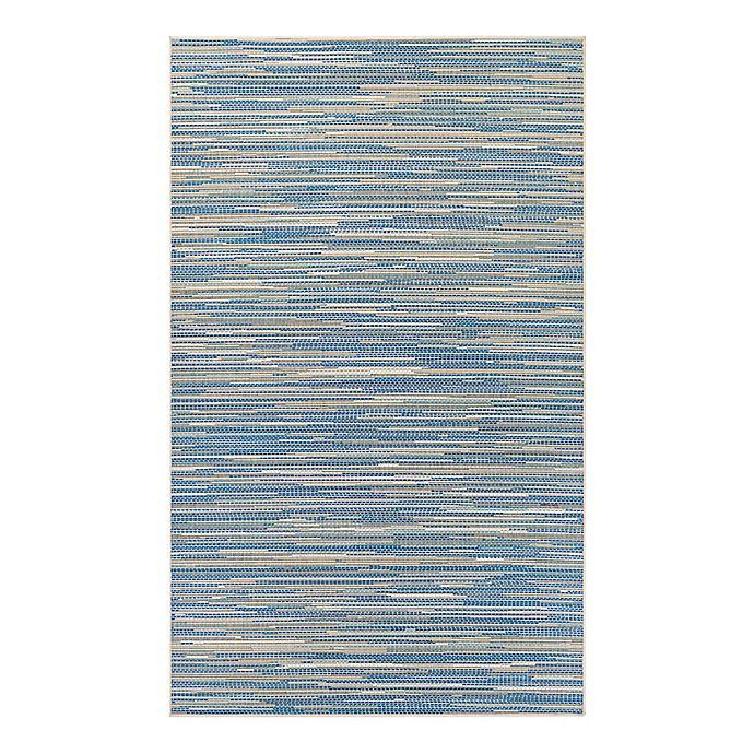 Alternate image 1 for Couristan® Monaco Alassio Indoor/Outdoor Rug in Sand/Azure