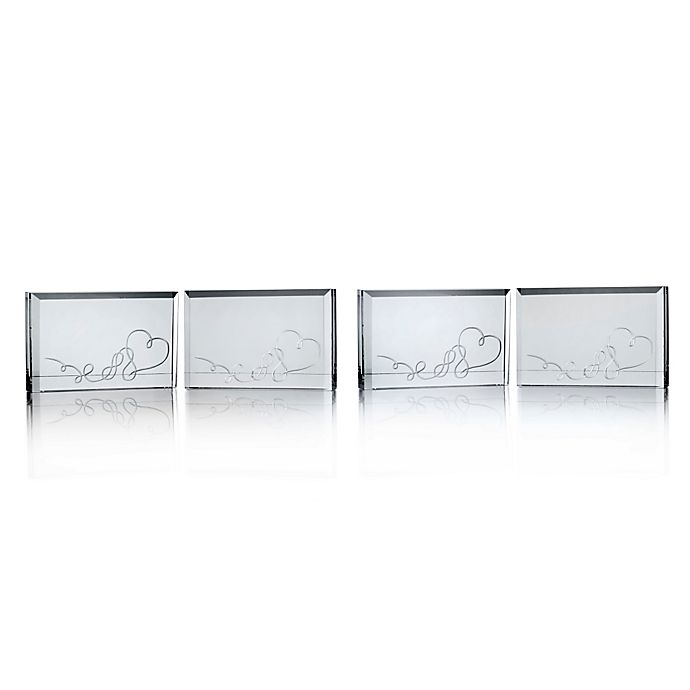 Alternate image 1 for Mikasa® Love Story Place Card Holder (Set of 4)