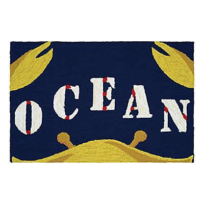Couristan® Covington 2-Foot x 3-Foot Indoor/Outdoor Gone Crabbing Accent Rug