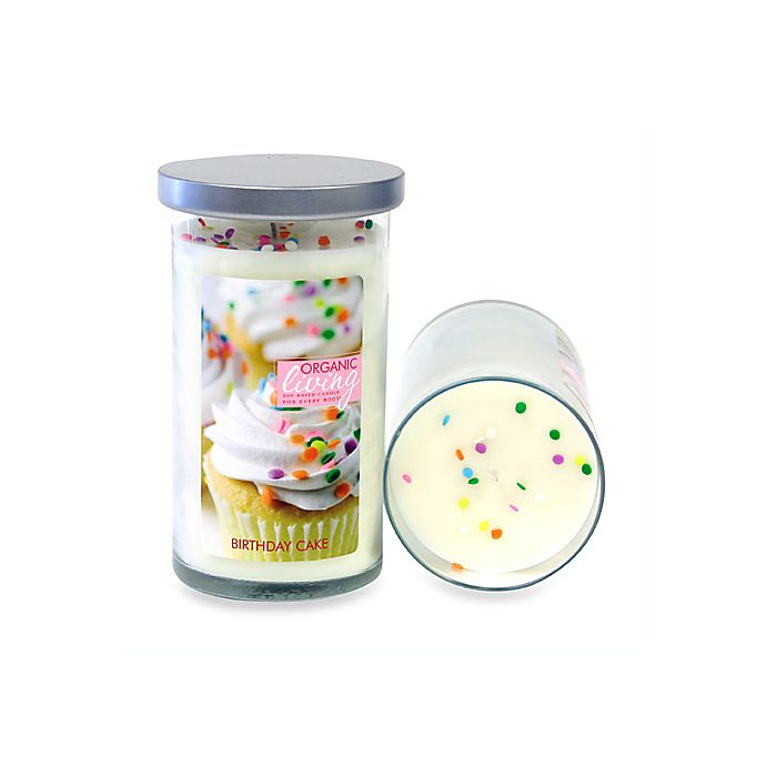 Organic Living Scented 3 4 X 6 Candle