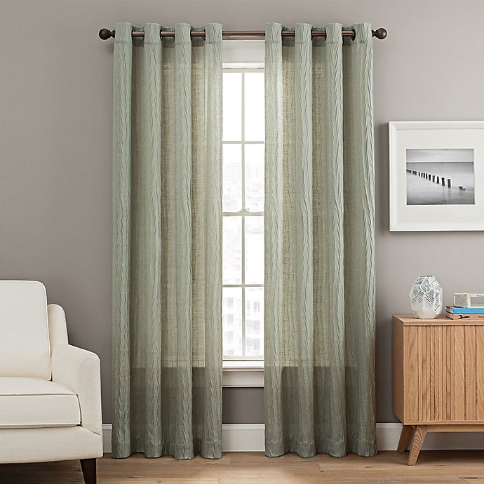 Alternate image 1 for Weston 95-Inch Grommet Top Window Curtain Panel in Green
